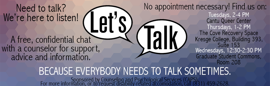 Let's Talk - Need to talk? We're here to listen!